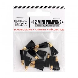Mini Pompons CARBONE Florileges Design - Mini Tasselli