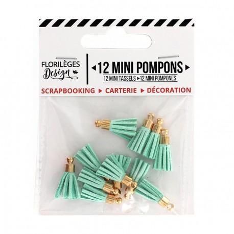 Mini Pompons CÉLADON Florileges Design - Mini Tasselli