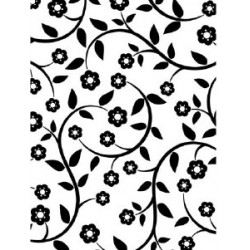 Embossing Template Darice flowers and vines