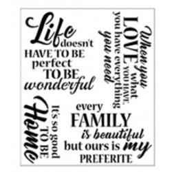 Stencil Tommy Art 34x40cm - Love-Life-Family