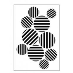 Stencil Tommy Art A5 - Cerchi a tratteggi