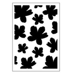 Stencil Tommy Art A5 - Acquarello fiori