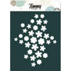Stencil Tommy Design A6 - Texture fiori