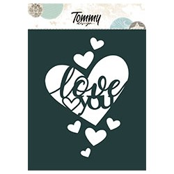 Stencil Tommy Design A6 - Love You