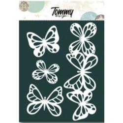 Maschera Tommy Design A5 - Farfalle