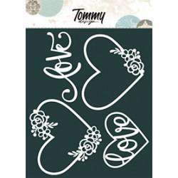 Maschera Tommy Design A5 - Cuori e Love