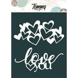 Maschera Tommy Design A5 - Cuori e Love You