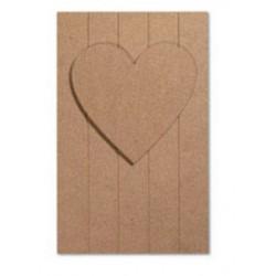 Pannello Doghe con cuore Tommy Art 25x40cm