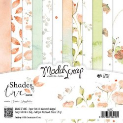 Paper pack Modascrap Shades of love 15x15cm