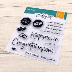 MODASCRAP CLEAR STAMPS  - MATRIMONIO