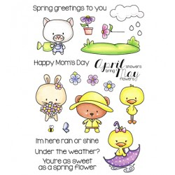 Set Timbri Clear Stamp C.C. Designs April & May