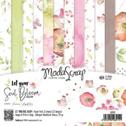 Paper pack Modascrap Let Your Soul Bloom 15x15cm