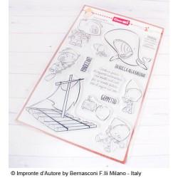 Timbri Impronte D'autore Pinocchio e La Balena