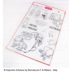 Timbri Impronte D'autore Pinocchio e Mangiafuoco