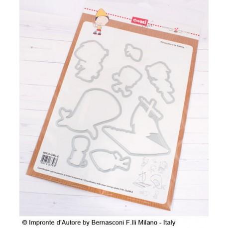 Fustelle Impronte D'Autore Pinocchio e la Balena