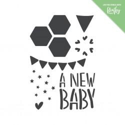 MODASCRAP STENCIL -NEW BABY