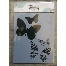 Stencil Tommy Design A6 - Cuore di fiori