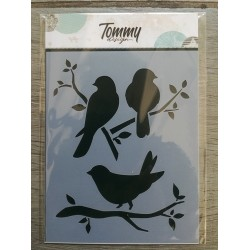 Stencil Tommy Design A6 - Mini farfalle