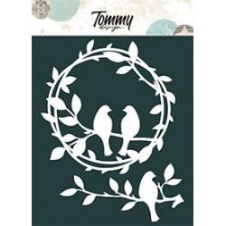 Maschera Tommy Design A5 - Ghirlanda uccellini