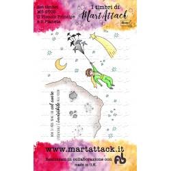 """Set Timbri Martattack Shop - """"Il Piccolo Principe e il pianeta"""""""