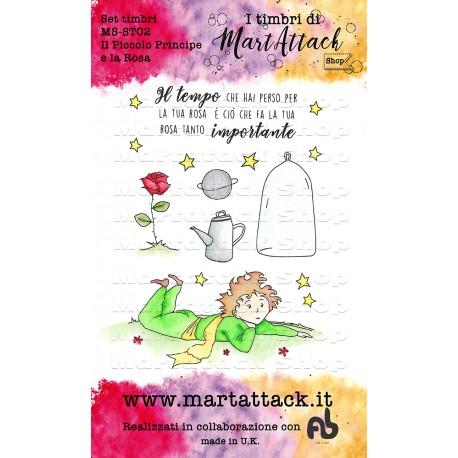 """Set Timbri Martattack Shop - """"Il Piccolo Principe e la rosa"""""""