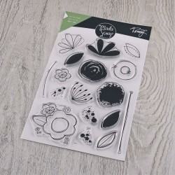 CLEAR STAMPS  MODASCRAP - LINEA TOMMY - DOODLE FLOWER
