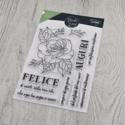 CLEAR STAMPS  MODASCRAP - LINEA TOMMY - ROSA