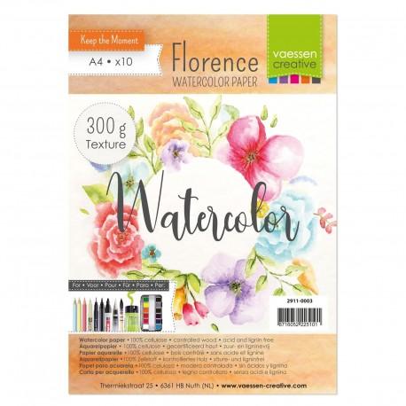 Florence watercolor paper A5 - 300gr - Carta per colori acquerellabili