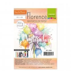Florence watercolor paper A6 - 200gr - Carta per colori acquerellabili liscia