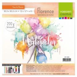 Florence watercolor paper A4 - 200gr - Carta per colori acquerellabili liscia