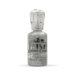 Nuvo Glitter drops - Silver moondust 30ml