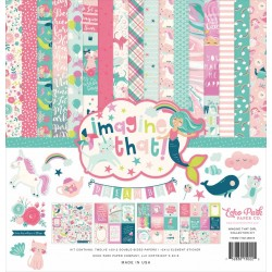 """Echo Park Imagine That Girl 12x12"""" Collection Kit"""