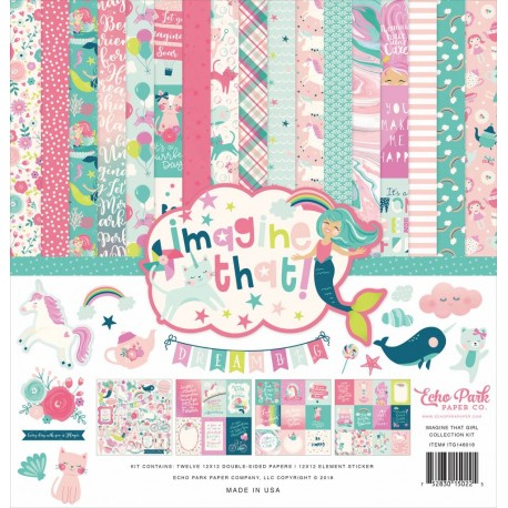 "Echo Park Imagine That Girl 12x12"" Collection Kit"