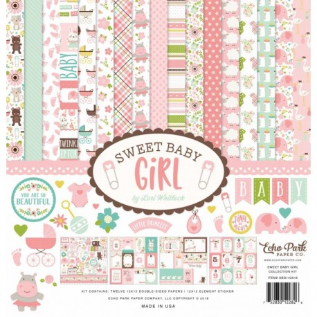 """Echo Park Sweet baby girl 12x12"""" Collection Kit"""