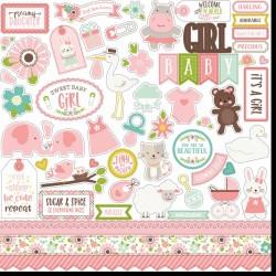 "Echo Park Sweet Baby Girl 12x12"" Element Sticker"