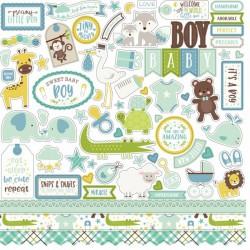 """Echo ParkSweet Baby Boy 12x12"""" Element Sticker"""