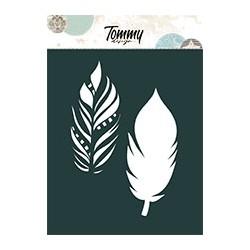 Stencil Tommy Design A6 - Piume e Stelle