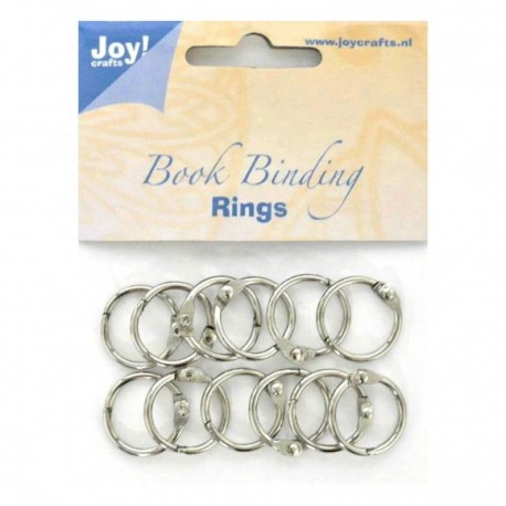 Joy!Crafts • Anelli per ring album - Book binding ring 20mm 12pz silver