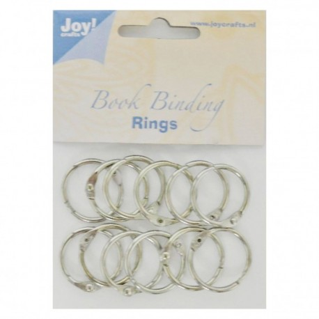 Joy!Crafts • Anelli per ring album - Book binding ring 25mm 12pz silver
