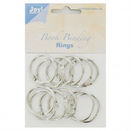 Joy!Crafts • Anelli per ring album - Book binding ring 30mm 12pz silver