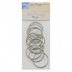 Joy!Crafts • Anelli per ring album - Book binding ring 45mm 12pz silver
