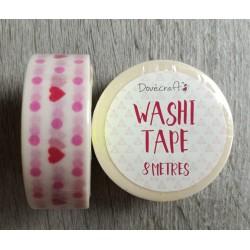 Cuoricini - Washi Tape 8mt x1,5cm