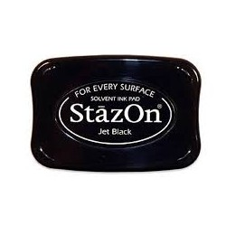 Stazon ink pad jet black