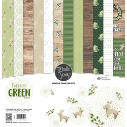Paper pack Modascrap Forever Green 30x30cm