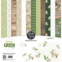 Paper pack Modascrap Forever Green 15x15cm