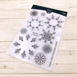 CLEAR STAMPS  MODASCRAP - LINEA TOMMY - FIOCCO DI NEVE