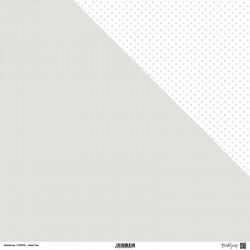 1 Foglio Cartoncino MODASCRAP - PASTEL GREY - DOUBLE FACE pois 30,5x30,5cm