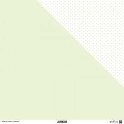 1 Foglio Cartoncino MODASCRAP - PASTEL GREEN - DOUBLE FACE pois 30,5x30,5cm