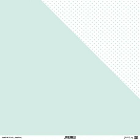 1 Foglio Cartoncino MODASCRAP - PASTEL TIFFANY - DOUBLE FACE pois 30,5x30,5cm