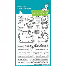 LAWN FAWN CLEAR STAMP HO-HO-HOLIDAYS